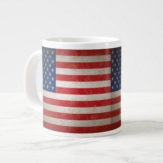Vintager Art-amerikanische Flaggen-patriotischer Jumbo-Tassen