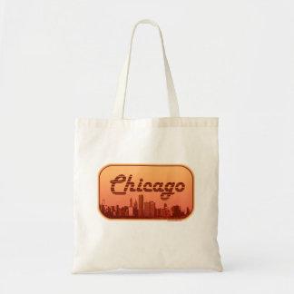 Vintager Art-ChicagoSkyline Tragetasche
