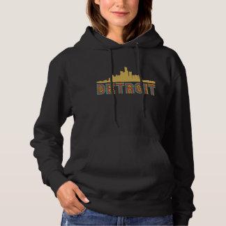 Vintager Art-Detroit Michigan Skyline Hoodie