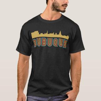 Vintager Art Dubuque Iowa Skyline T-Shirt