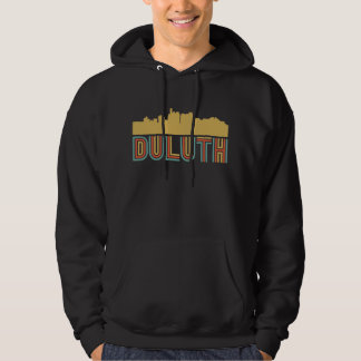 Vintager Art-Duluth Minnesota Skyline Hoodie