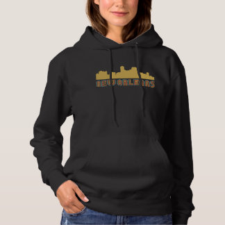 Vintager Art-New Orleans Louisiana Skyline Hoodie