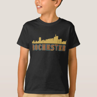 Vintager Art-Rochester Michigan Skyline T-Shirt
