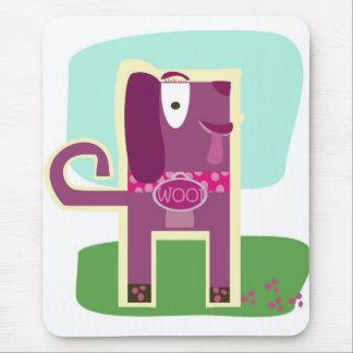 Vintager Art-Schuss-Girly Hund Mousepads