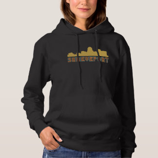 Vintager Art-Shreveport Louisiana Skyline Hoodie