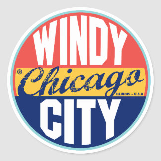 Vintager Aufkleber Chicagos