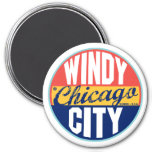 Vintager Aufkleber Chicagos Magnets