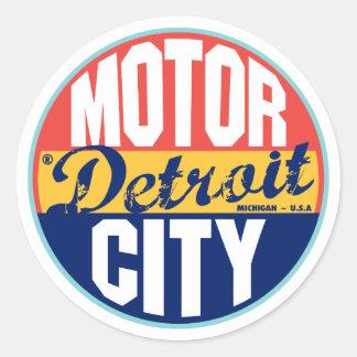 Vintager Aufkleber Detroits