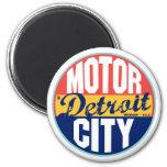 Vintager Aufkleber Detroits Runder Magnet 5,1 Cm