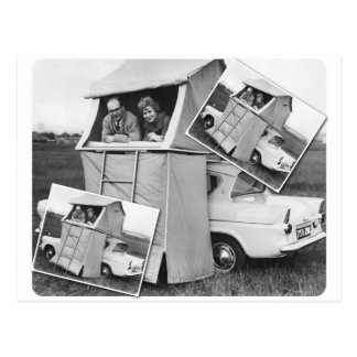 Vintager Auto-Campings-Wohnwagen Postkarten