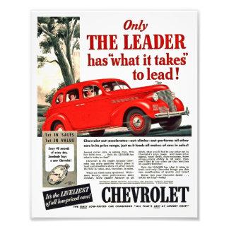 Vintager Automobildruck - Chevy Anzeigen-Grafik Photo Druck