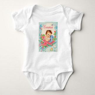 Vintager Baby-Mädchen-Einteiler Baby Strampler