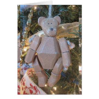 Vintager Bär, pfui Bärn-Zitat-Weihnachtskarte Karte