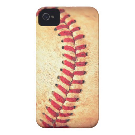 Vintager Basebalball Case-Mate iPhone 4 Hülle