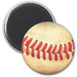Vintager Basebalball Runder Magnet 5,1 Cm