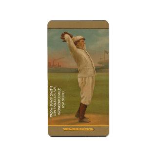 Vintager Baseball 1 Adressaufkleber
