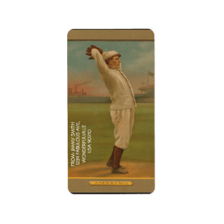 Vintager Baseball 1 Adressetiketten
