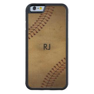 Vintager Baseball Bumper iPhone 6 Hülle Ahorn