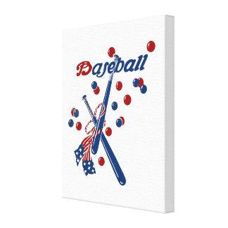 Vintager Baseball-Entwurf Leinwanddruck