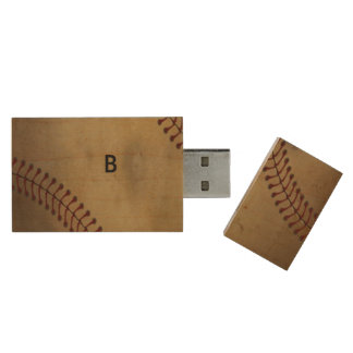 Vintager Baseball Holz USB Stick