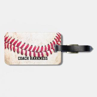 Vintager Baseball-individueller Name Gepäckanhänger