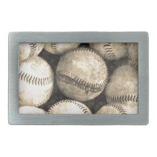 Vintager Baseball Rechteckige Gürtelschnalle