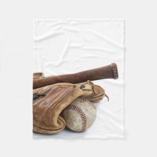 Vintager Baseball und Schläger Fleecedecke