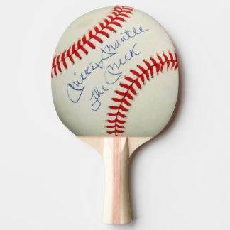 Vintager Baseball unterzeichneter autographischer Tischtennis Schläger