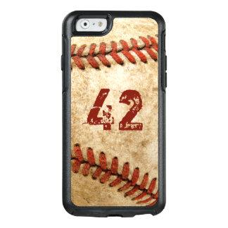 Vintager Baseballgrunge-Blick mit Ihrer Zahl OtterBox iPhone 6/6s Hülle