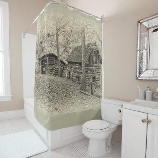 Vintager Bauernhof-Duschvorhang Duschvorhang