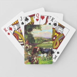 Vintager Bauernhof Spielkarten