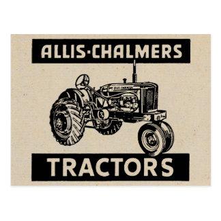Vintager Bauernhof-Traktor Postkarte