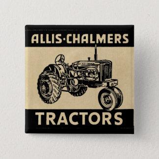 Vintager Bauernhof-Traktor Quadratischer Button 5,1 Cm