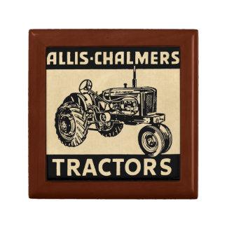 Vintager Bauernhof-Traktor Schmuckschachtel