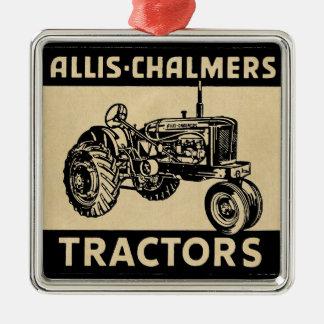Vintager Bauernhof-Traktor Silbernes Ornament