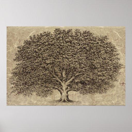Vintager Baum Poster