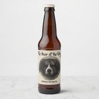 Vintager Bernhardiner-Hundekundenspezifischer Bierflaschenetikett