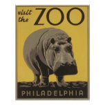 Vintager Besuch der Zoo Philadelphia Plakate