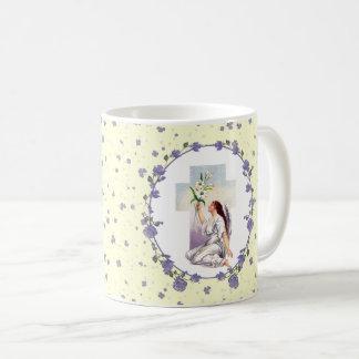Vintager betender Engel. Ostern-Geschenk-Tassen Kaffeetasse