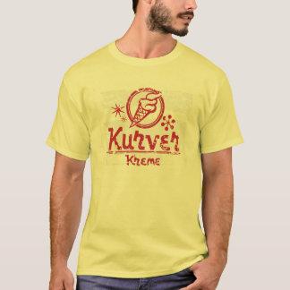 Vintager beunruhigter Retro Kurver Kreme T - Shirt
