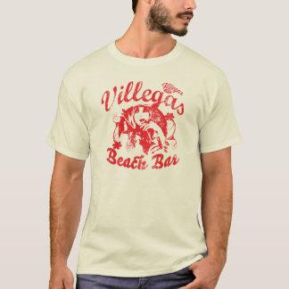Vintager beunruhigter Villegas-Strand-Bar-T - T-Shirt