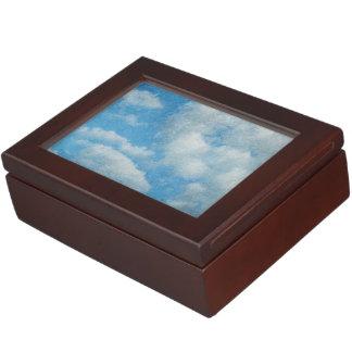 Vintager beunruhigter Wolken-Hintergrund Erinnerungsdose