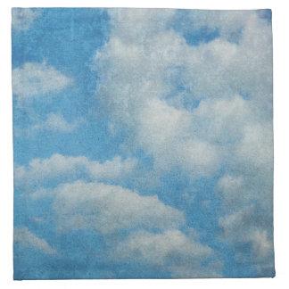 Vintager beunruhigter Wolken-Hintergrund Stoffserviette