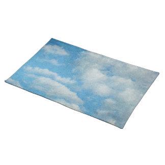 Vintager beunruhigter Wolken-Hintergrund Tischset
