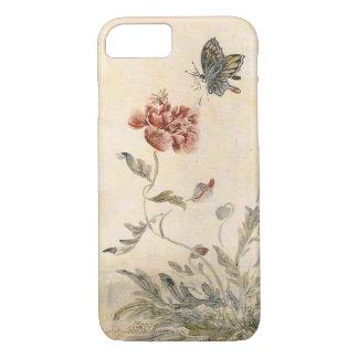 Vintager Biene, Schmetterlingund iPhone 8/7 Hülle