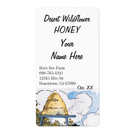 Vintager Bienenstock-kundenspezifischer Großer Adressaufkleber