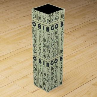 Vintager Bingo-Karten-Wein-Kasten Wein-Geschenkverpackung