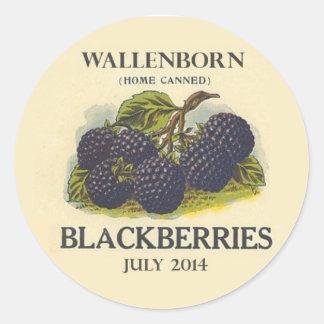 Vintager BlackBerry-Marmeladen-Aufkleber Runder Aufkleber
