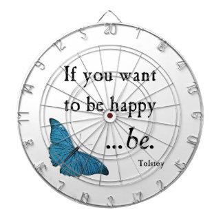 Vintager blauer Schmetterling und Tolstoy Dartscheibe