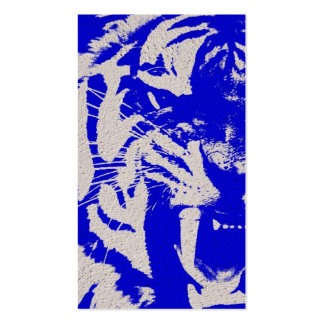 Vintager blauer Tiger-Missgunstbauhandel Visitenkarten
